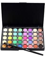 Gaddrt Cosmétique Matte fard à paupières palette de maquillage chatoyant Set 40 Color + Brush Set
