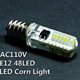 Glühlampen, Home Leuchtmittel E12LED Mais Lichter T 48SMD 3014100–120lm5% LM WARMWEIß kaltweiss 2700~ 3500K 、 6000~ 6500K Leuchtmittel Deko AC 110–130V E12 White-110v