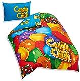 Cheapest Candy Crush 135 x 200 cm 50 Percent Cotton/ 50 Percent Polyester Single Duvet Cover Set, Multi-Colour on