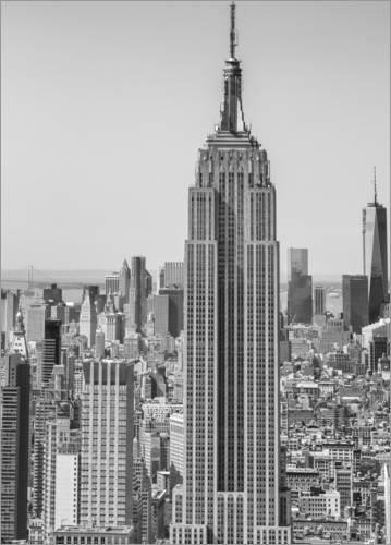Póster 50 x 70 cm: New York City Aerial Skyline Editors