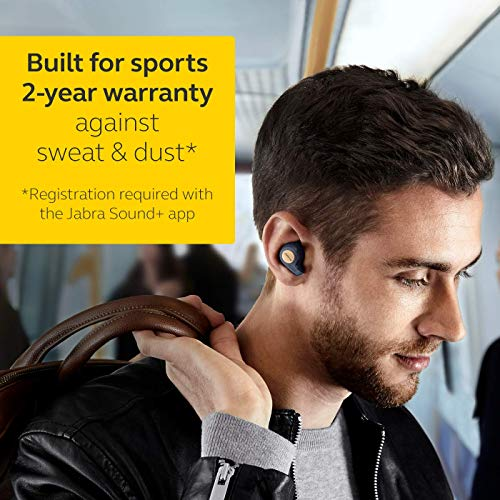 Jabra Elite Active 65t Alexa Enabled True Wireless Sports Earbuds with Charging Case - Copper Blue Image 4