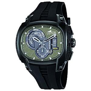 Lotus - 15755/1 - Montre Homme - Quartz Analogique - Chronomètre - Bracelet Plastique Noir