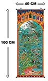 SmartKey Großes Game of Thrones Rollbild/Kakemono aus Stoff, 100x40cm, Motiv: Karte Westeros