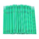 IPOTCH 100pcs Micro Tampone Applicatori di Estensione della Ciglia Micro Spazzola - Verde