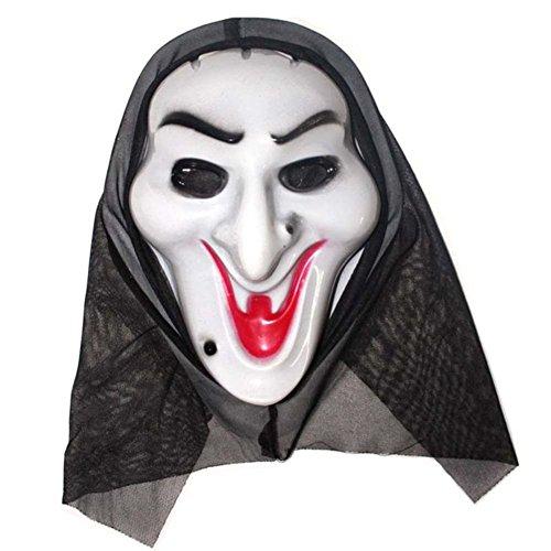 Ukallaite Let 's Party Full Face Maske Scary Grimace Halloween-Kostüm Evil Creepy Party Horror-Centipede Gesicht, Plastik, Einfarbig, Witch