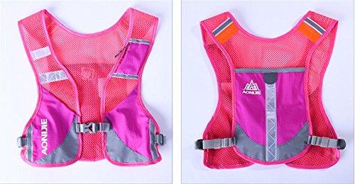 Imagen de aonijie  senderismo  hidratación maratón macho ligero chaleco escalada ciclismo , hot pink alternativa