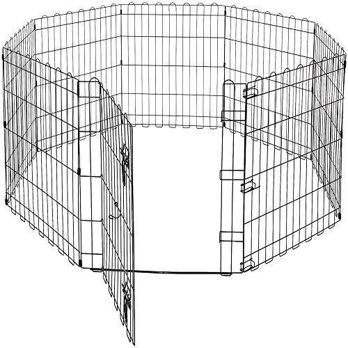 GLQ Pet Laufstall faltbar - Übung Laufgittern Übungsstift/Falten flach für die Bequeme Aufbewahrung Ideal jeder Hunderasse Falten flach kompakt im Freien wichtig -