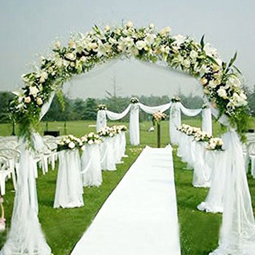 Rollo de organza de 10 m, tela de gasa, funda para silla o camino de mesa, para decoración de bodas, fiestas, blanco, 10 m