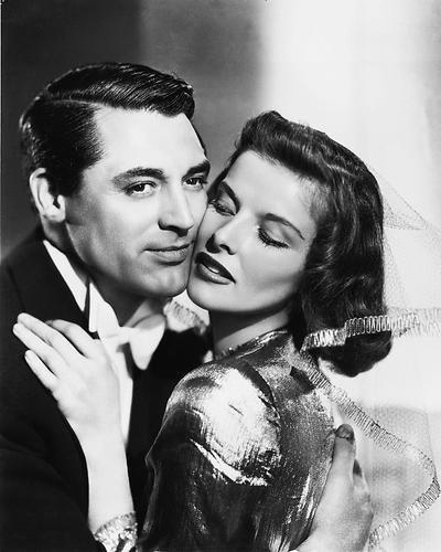 Moviestore Katharine Hepburn als Susan Vance unt Cary Grant als Dr. David Huxley in Bringing Up Baby 25x20cm Schwarzweiß-Foto -