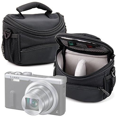 Funda / Bolsa protectora para cámara Panasonic Lumix DMC-TZ60 , Lumix DMC-TZ61 , Lumix DMC-TZ70 , Lumix DMC-TZ70EB-K , Lumix DMC-TZ70EB-S , Lumix DMC-TZ70EG-K , Lumix DMC-ZS100 , Lumix DMC-TZ100 . Color negro - DURAGADGET