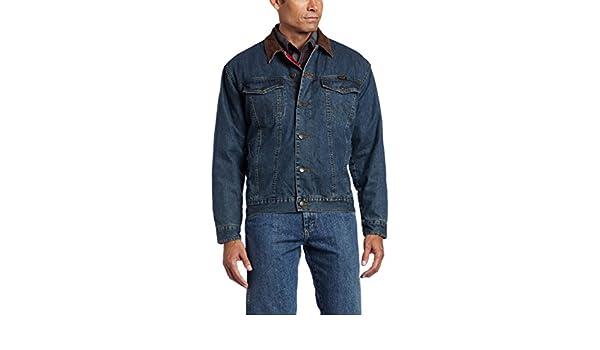 2b6f1291edd Wrangler Men s Rustic Blanket Lined Denim Jacket