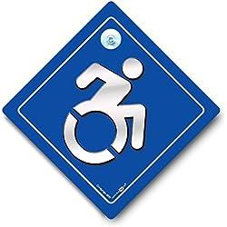 Rad Stuhl Benutzer Auto Schild Sport, Behinderte KFZ-Hinweisschild, Behinderung Auto, Rollstuhlfahrer Auto Schild, Blue Badge, Behinderte KFZ-Hinweisschild, Behinderung Blue Badge Schild, Rollstuhl Logo