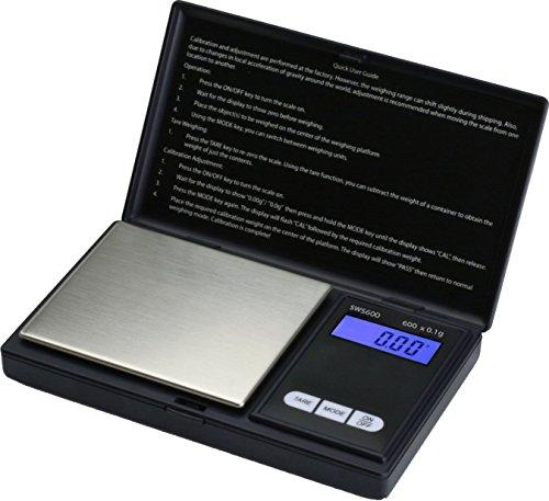 Smart Weigh SWS600 - Bilancia digitale tascabile 600 x 0,1 g, colore: Nero