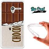 Becool® Fun - Funda Gel Flexible para Alcatel OneTouch Pop 3 5 .Carcasa TPU fabricada con la mejor Silicona protege, se adapta a la perfección a tu Smartphone y con nuestro diseño exclusivo Tableta de chocolate