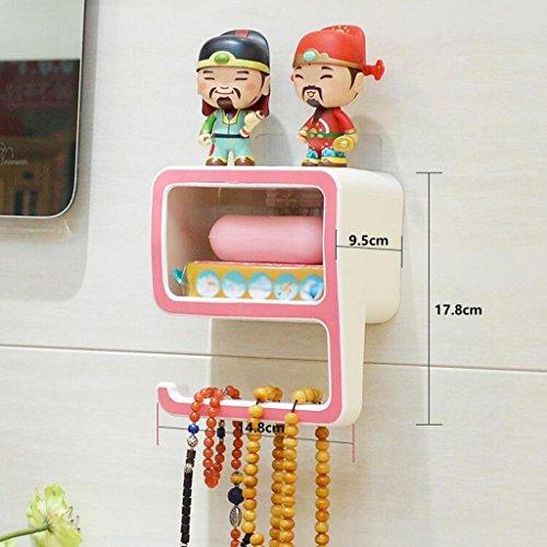 Tapis de bain Xuan - Worth Having Créative numéro 9 Style Porte-Savon Rose Ventouse Type étagère