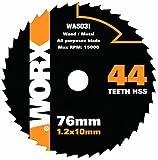Worx WA5031 HandyCut - Cuchilla de recambio para sierra (76 mm, 44 dientes)