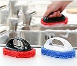 Generic Blue : KITCHEN SINK SOAP DISPENSING DISH WASHER WASHING UP CLEANING SCRUBBING BRUSH PAD