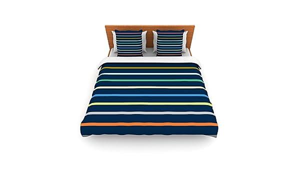 KESS InHouse Trebam Tanak Navy Blue Queen Comforter 88 X 88