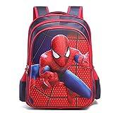 JIAN Kinder-Rucksack 3D-Stereo-Spiderman Anime Cartoon Wasserdichte Schultasche,B-S