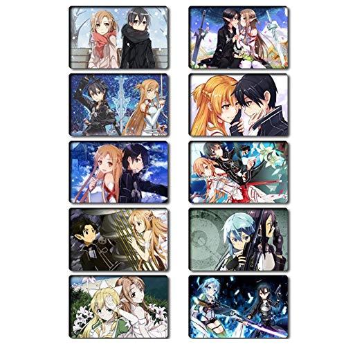 yuhiugre Sword Art Online Stickers Wasserdicht Aufkleber Vinyl Aufkleber für Laptop, MacBook, Gepäck, Skateboard(H05)