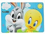 Unterlage - Baby Looney Tunes Tweety und Hase - 43 cm * 29 cm incl. Name - Tis..