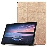 Igemy iPad 10.5 Zoll Hülle, Ultra Dünn Smart Cover für Samsung Galaxy Tab S4 10,5'' mit Automatischem Schlaf Funktion und Standfunktion - Hochwertiges PU Leder Hülle (iPad S4 10.5'', Roségold)