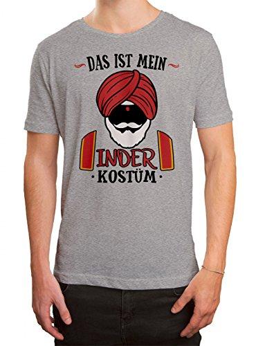Bollywood Für Kostüm Ideen - Kostüm Inder Premium T-Shirt | Verkleidung | Karneval | Fasching | Herren | Shirt, Farbe:Graumeliert (Grey Melange L190);Größe:3XL
