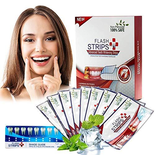 Teeth Whitening Strips Zahnaufhellungs Bleaching Strips Ohne Peroxid Minzgeschmack - 28 Streifen für Box (weiß)