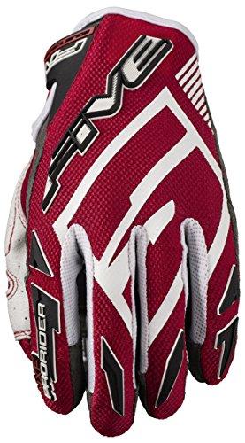 Fünf Advanced Handschuhe MXF-Pro Rider S Erwachsene Handschuhe, Rot/Weiß, Größe 10
