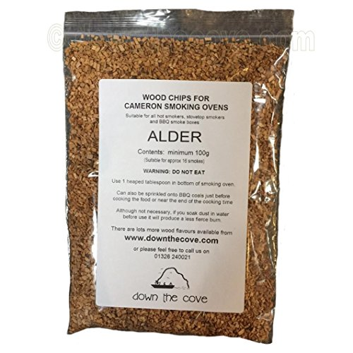 100g Alder Wood Chips / Wood Dust for Hot Smokers / Smoking Ovens / BBQ
