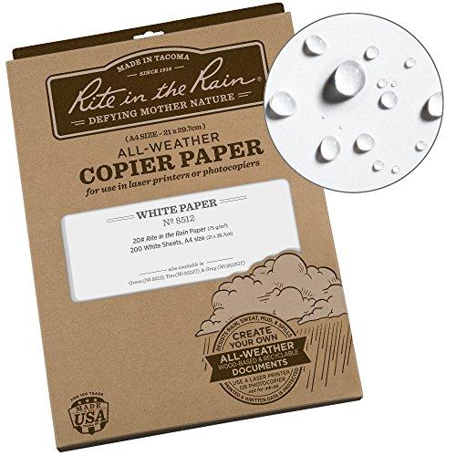 Rite in the Rain Unisex A3Wasserdicht Kopier und Laser Papier, weiß A4, wasserdicht Nicht zutreffend weiß