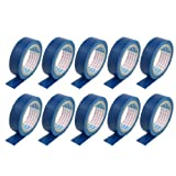 Water & Wood PVC Wire Insulating Self Adhesive Electrical Tape, 3m Length x 16mm Width, Blue (Pack of 10)