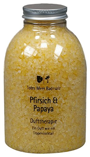 Totes Meer Natur Badesalz PFIRSICH & PAPAYA 630 gr. beduftet mit hochwertigen Parfümölen - Belebende Bade-salz