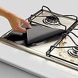 bureze 4Küche wiederverwendbar Aluminium Folie Gasherd Brenner Cover Protector rutschsicher reinigen Matte Pad