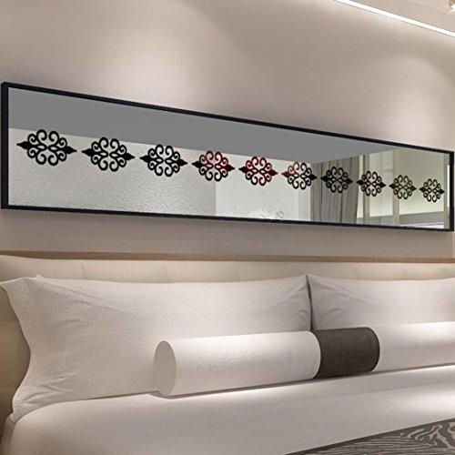 Manadlian Wandsticker ❤️ DIY Familie Zuhause Wandaufkleber 3D DIY Zimmer Dekoration Specchio Acryl Mauer Aufkleber Modern Aufkleber Dekoration (Schwarz)