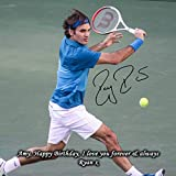 Roger Federer - Tennis 2 Personalised Gift Print Mouse Mat Autograph Computer Rest Mouse Mat Compatible with Laser and Optical Mice (No Personalised Message)