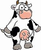 U24 - Autocollant pour voiture - Motif de vache amusant