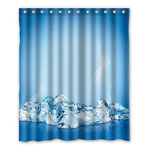 """stile semplice sfondo blu bello iceberg disegno poliestere tessuti impermeabile bagno tende da doccia 150 cm x183 cm (60 """"X72""""), 12 anelli di tenda."""