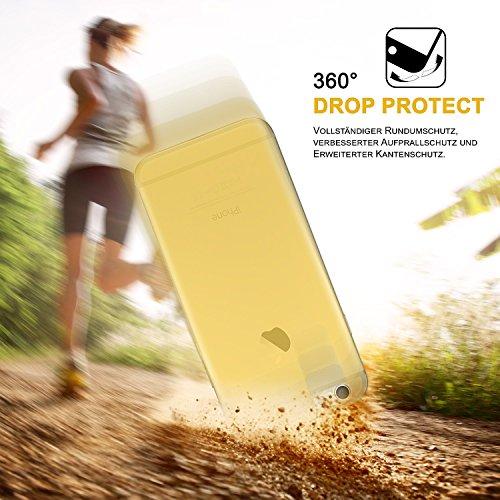 iPhone 6S Hülle Silikon Transparent Gold [OneFlow Clear Back-Cover] TPU Schutzhülle Dünn Handyhülle für iPhone 6/6S Case Ultra-Slim Silikonhülle Rückseite CHROME-GOLD