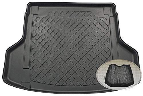 ZentimeX Z3289761 Gummierte Kofferraumwanne fahrzeugspezifisch + Klett-Organizer (Laderaumwanne, Kofferraummatte)
