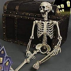 Idea Regalo - Thee, scheletro umano spaventoso, in dimensioni realistiche, decorazione per festa di Halloween skull