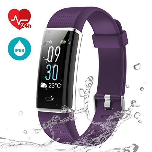 LATEC Pulsera Actividad, Pantalla de Color Pulsera Inteligente Impermeable IP68 con Visualización...