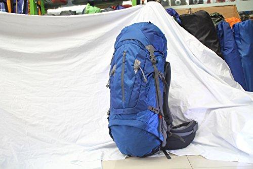 wnnideo 75L Rucksack interne Rahmen Rucksack Wasserdicht Wandern Rucksack Wanderrucksack Trekking Tasche für Klettern, Camping Wandern, Bergsteigen, Reisen und (pn-09604) Blau