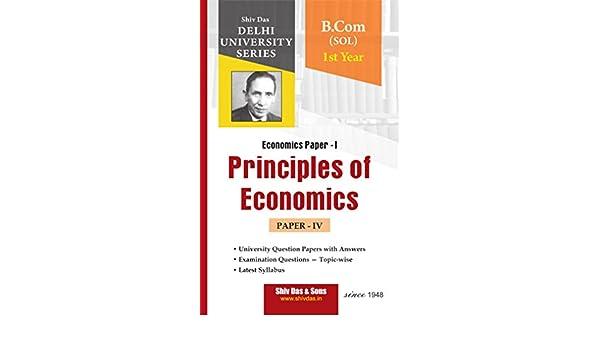 Buy Principles of Economics for B Com 1st Year SOL Delhi University