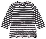 Noppies Baby-Mädchen Kleid G Dress Sweat ls Weigelstown STR, Mehrfarbig (Charcoal C271), 86