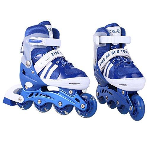 Fantiff New Unisex PU Wheel PP Material Indoor Outdoor Roller Children Tracer Adjustable Inline Skate Roller -