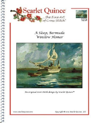Bermuda-chart (Scarlet Quince HOM003lg Sloop, Bermuda by Winslow Homer Counted Cross Stitch Chart, Large Size Symbols by Scarlet Quince)