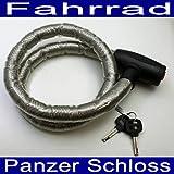 Fahrrad Panzerschloss,Vinyl beschichtet,Fahrrad Motorrad Zaun Tor Panzer Schloss (LHS)