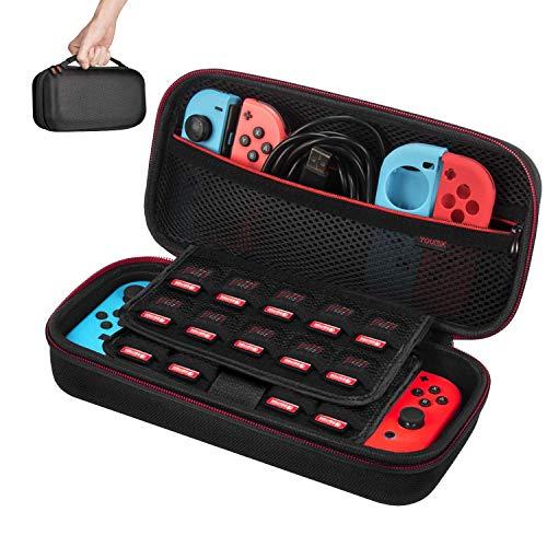 Esta versión mejorada del estuche está especialmente diseñada para Nintendo Switch. Tiene un espacio de almacenamiento mayor lo cual te permite llevar tu consola Nintendo Switch, 2 x controles Joy-Con y otros accesorios. Un interior suave y un diseño...