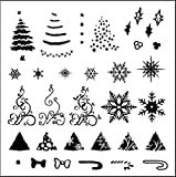Stamping Schablone Plate CJSC01 Weihnachten X-mas Eisblume Weihnachtsmann Nailart Nageldesign